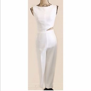 Misha Collection Size Small White Jumpsuit